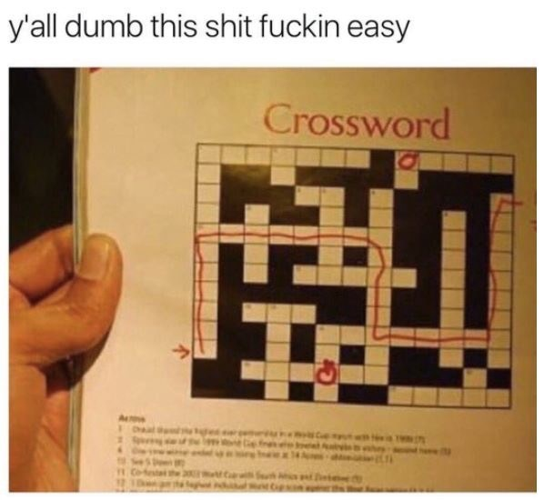 pic of crossword played like a maze quiz