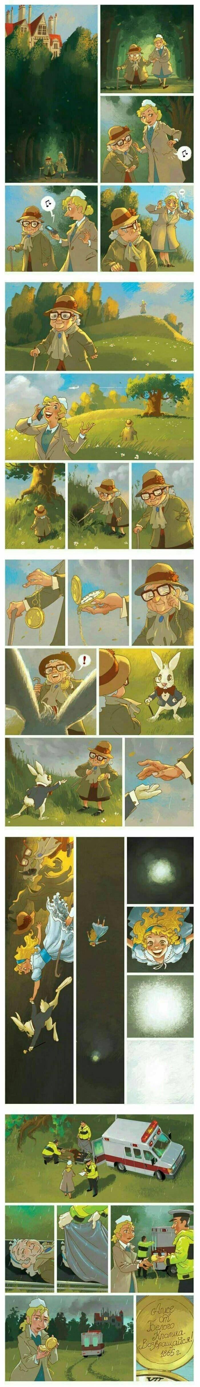 comic de una historia alternativa de alicia en el pais de las maravillas