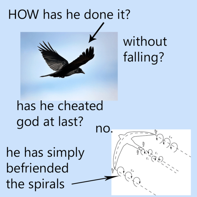 Text - HOW has he done it? without falling? has he cheated god at last? no. he has simply befriended the spirals