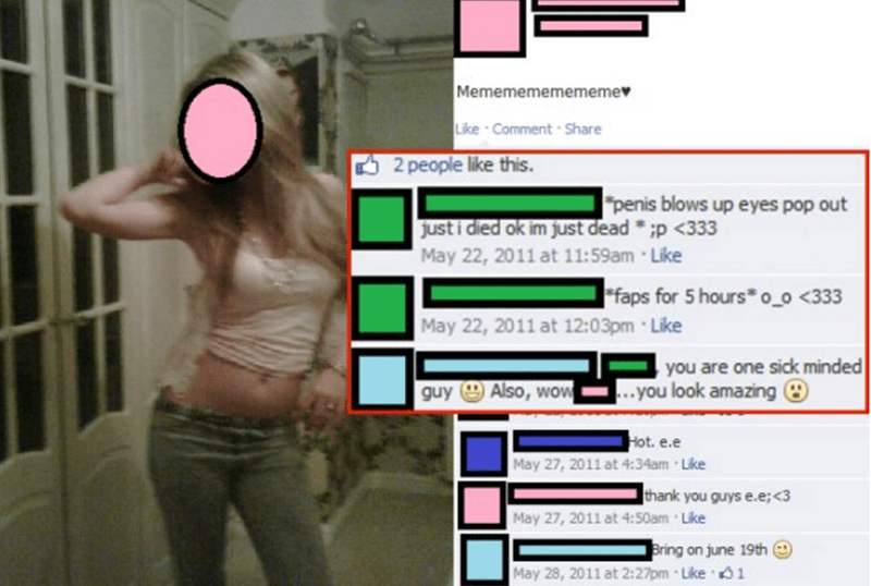 Snapshot - Mememememememe Like Comment-Share 2 people like this. penis blows up eyes pop out just i died ok im just dead p <333 May 22, 2011 at 11:59am Like faps for 5 hours o o <333 May 22, 2011 at 12:03pm Like you are one sick minded ..you look amazing guy Also, wow Hot. e.e May 27, 2011 at 4:34am Like thank you guys e.e;<3 May 27, 2011 at 4:50am Like Bring on june 19th May 28, 2011 at 2:27pm Like 1