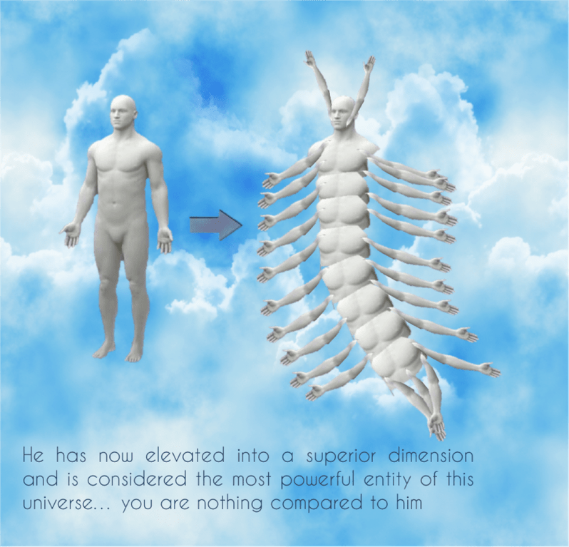 Joint - He has now elevated into a superior dimension and is considered the most powerful entity of this universe... you are nothing compared to him
