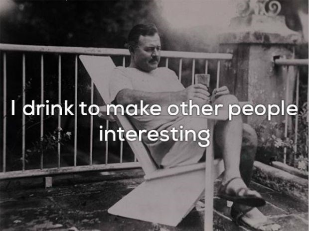 Photograph - Idrink to make other people interesting