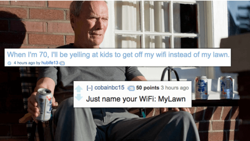shower thought wifi