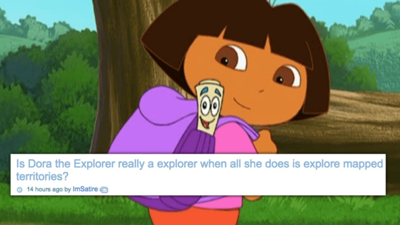 shower thoughts dora the explorer