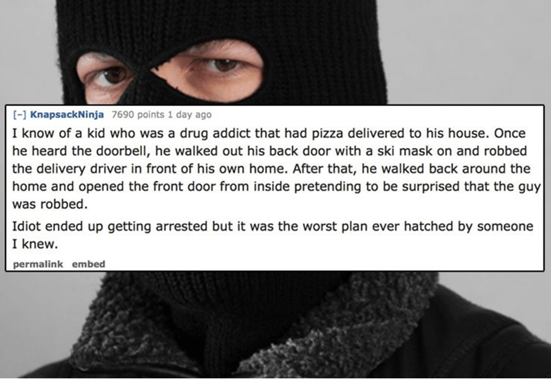 delivery driver tells a strange story about a guy robbing a driver at his own home