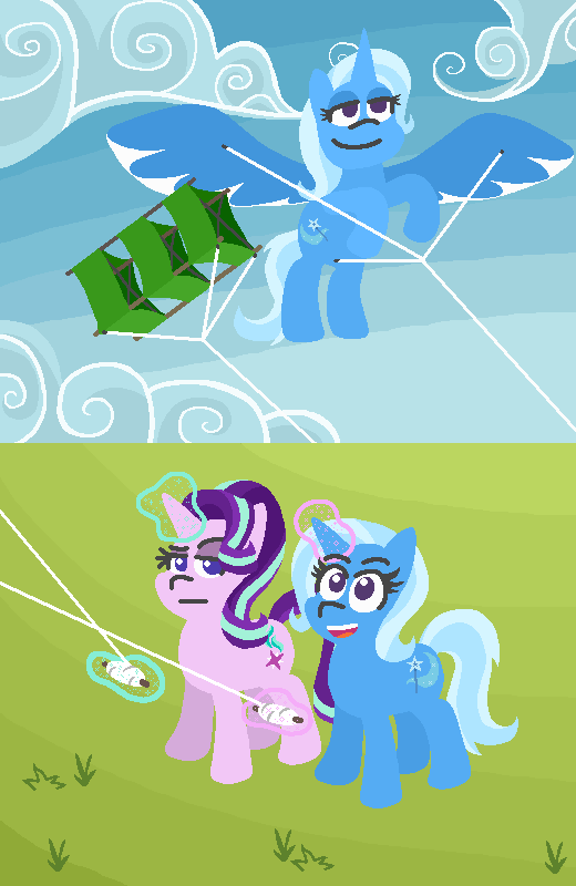 the great and powerful trixie starlight glimmer kites comic rock solid friendship threetwotwo32232 - 9031438592