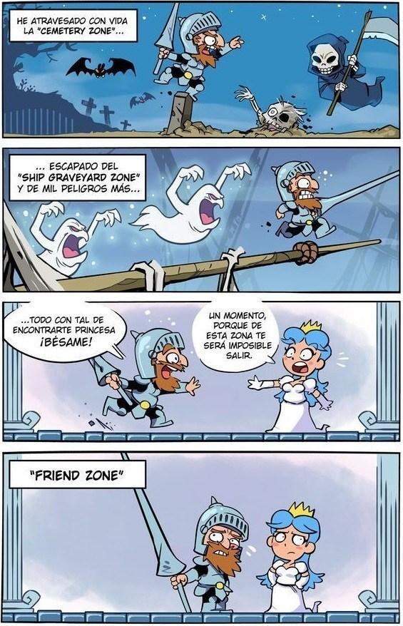 videojuego en donde el heroe no puede superar la friendzone