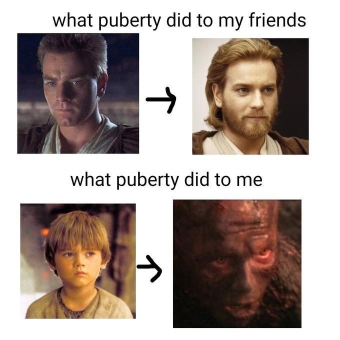 Face - what puberty did to my friends what puberty did to me