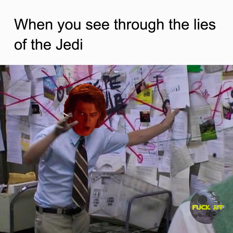 Text - When you see through the lies of the Jedi FUCK JP
