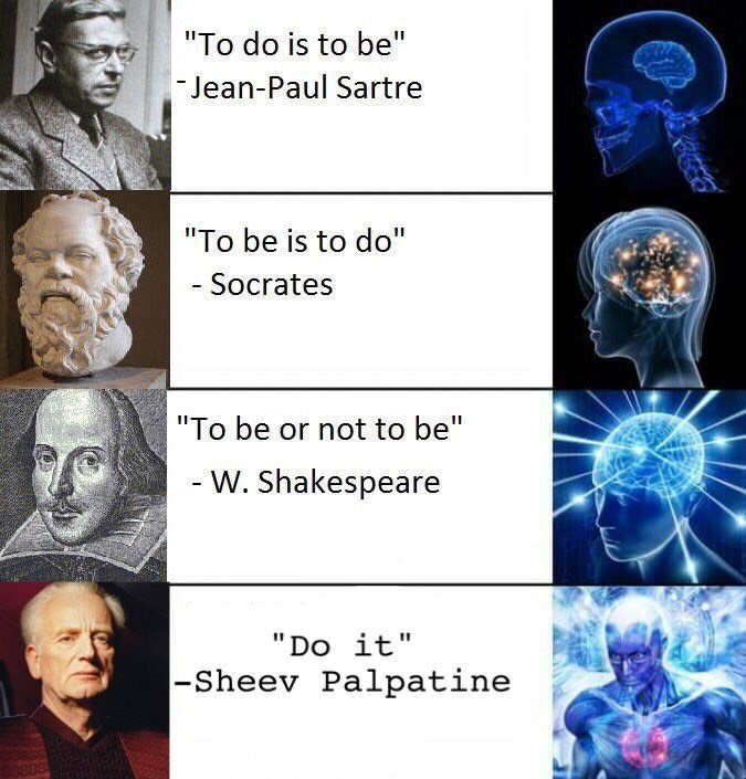 "Medical imaging - ""To do is to be"" Jean-Paul Sartre ""To be is to do"" - Socrates ""To be or not to be"" - W. Shakespeare ""Do it 