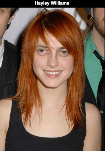 Steve Buscemi's face photoshopped on Hayley Williams.