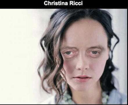 Steve Buscemi's face photoshopped on Christina Ricci.