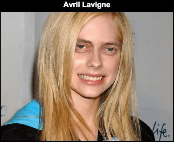 Steve Buscemi's face photoshopped on Avril Lavigne.