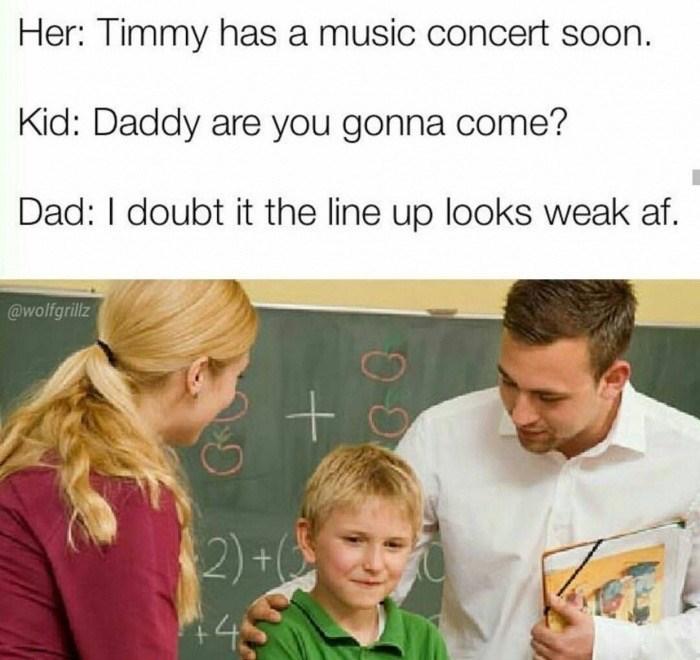 Funny meme kids music concert