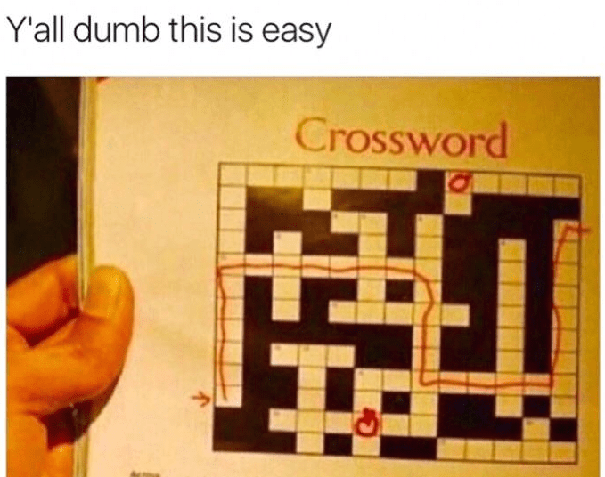 Funny meme crossword puzzle