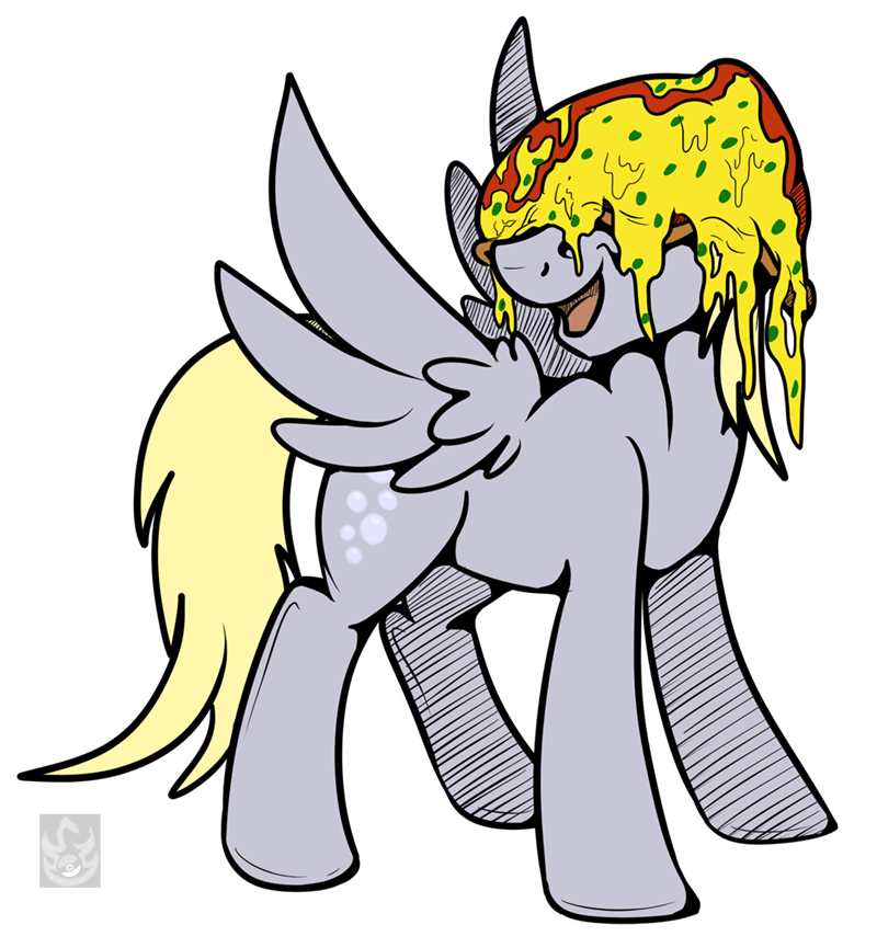 stormblaze-pegasus pizza derpy hooves rock solid friendship - 9032057088