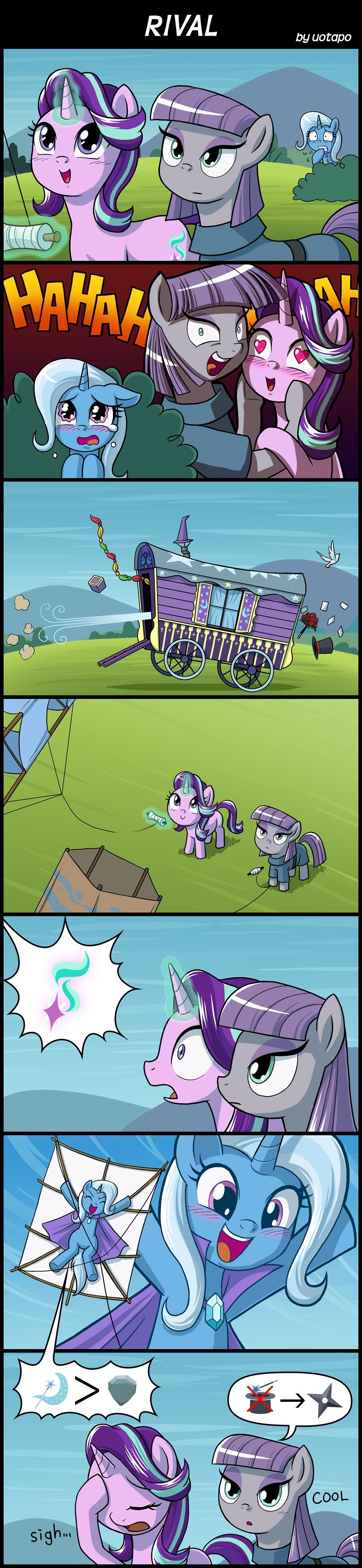 the great and powerful trixie starlight glimmer comic maud pie rock solid friendship - 9032307456