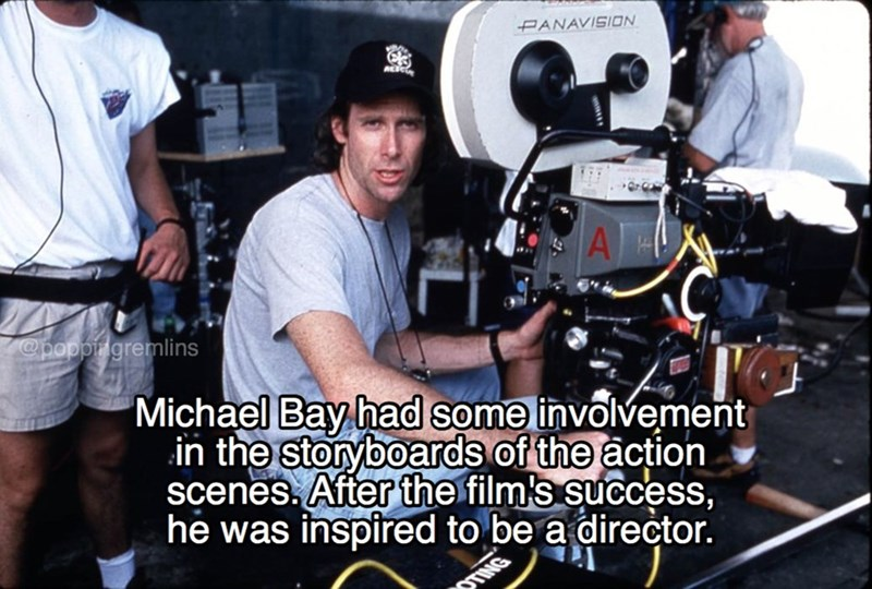 Cinematographer - PANAVISION A popprigremlins 'Michael Bay had some involvement in the storyboards of the action scenes. After the film's success, he was inspired to be a director. TING