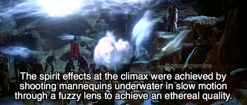 Adaptation - @poppingremlins The spirit effects at the climax were achieved by shooting mannequins underwater in slow motion through a fuzzy lens to achieve an ethereal quality