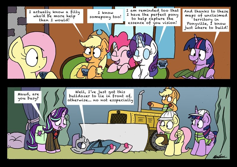 applejack bob the dalek starlight glimmer twilight sparkle pinkie pie Hitchhikers Guide To the Galaxy rarity comic maud pie fluttershy rock solid friendship fluttershy leans in - 9032584448