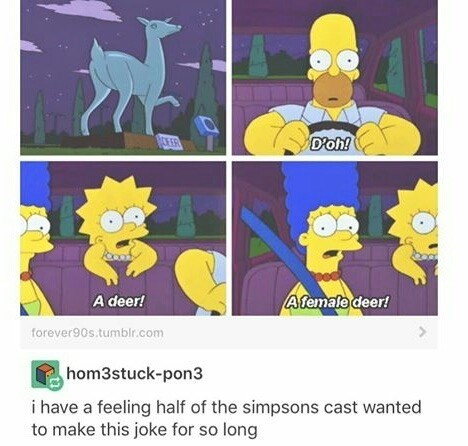 Funny Simpson meme about something the writers probably wanted to do for a long time.
