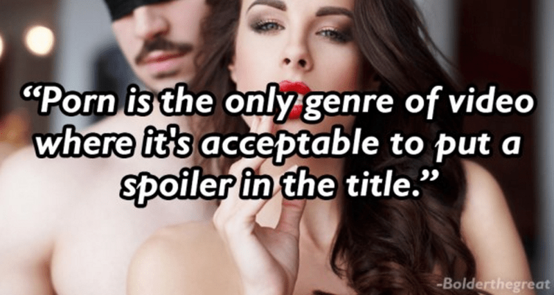 """thoughts on porn - Hair - """"Porn is the only genre of video where it's acceptable to put a spoiler in the title."""" -Bolderthegreat"""