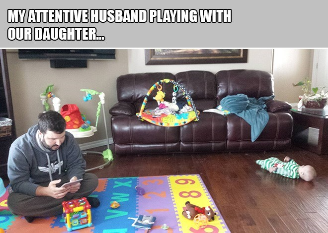 Play - MY ATTENTIVE HUSBAND PLAYING WITH OUR DAUGHTER.. 6 8.4 X MaN