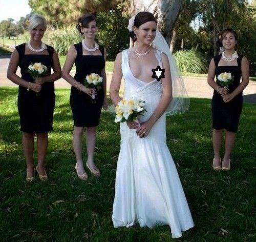 funny pic of bride with a nip slip