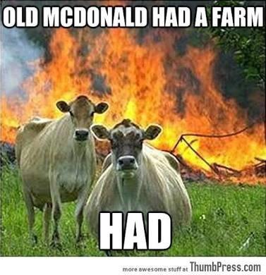 Bovine - OLD MCDONALD HAD A FARM HAD more awesome stuff at ThumbPress.com
