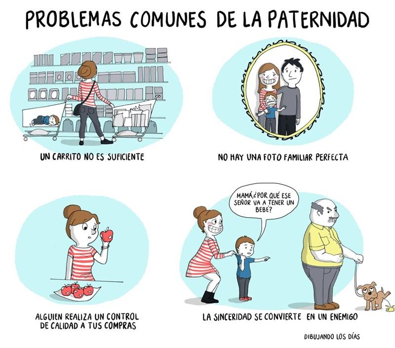 comic de los problemas comunes de la paternidad
