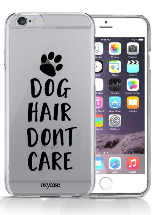 Mobile phone case - 100% 9:41 AM lesday lendar Photos Camera ock Maps Videos DOG HAIR DonT CARE inders Stocks Game Center A s Store App Store Books sbook Settings iPhone Mail Satari Music охусase