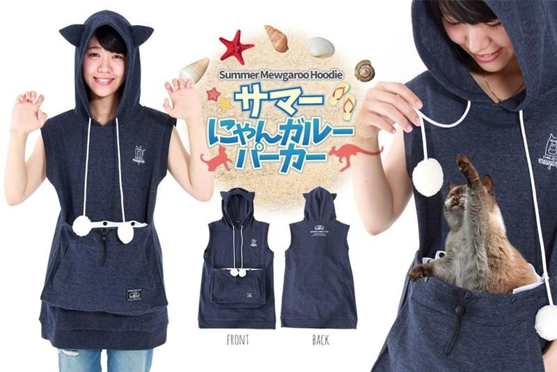 Clothing - SummerMewgaroo Hoodie サマー% にゃんルー パーカー mewga FRONT BACK