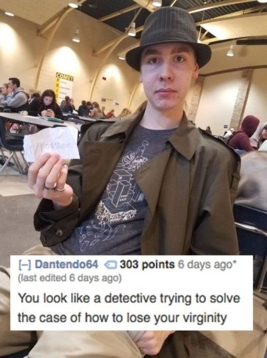 roast you look like a detective