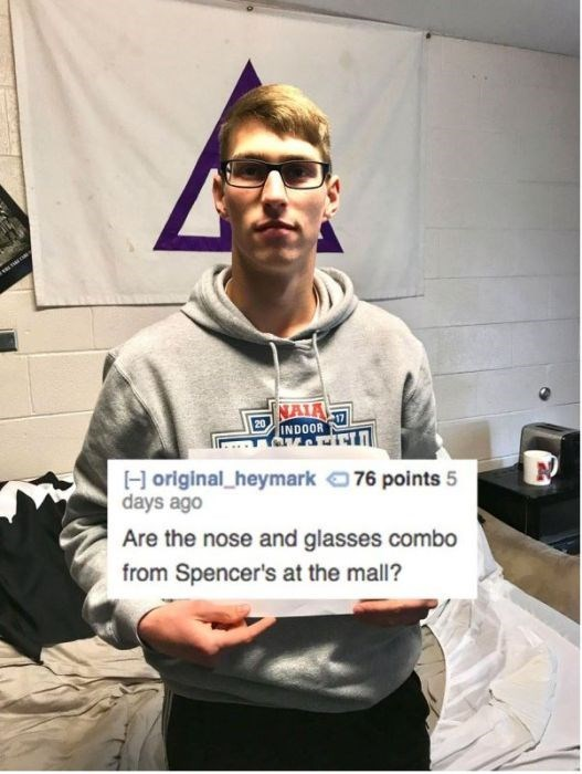 roast spencer's nose and glasses combo