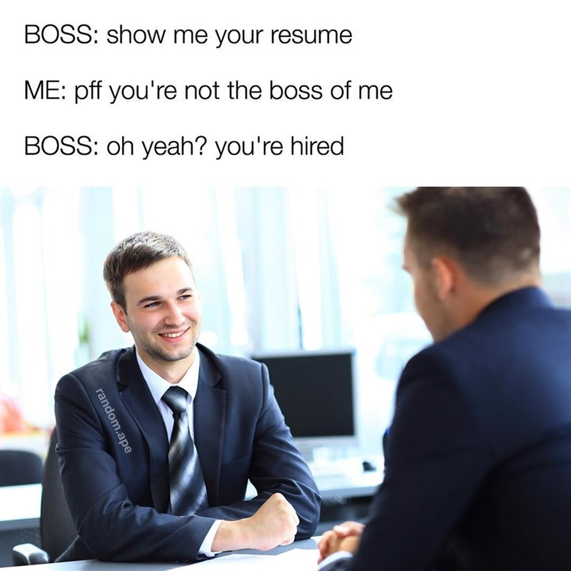 boss meme you are not him