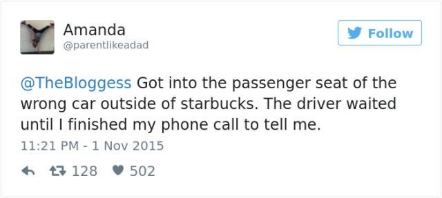 Fail when you got in the wrong car and didn't get off your damn phone.