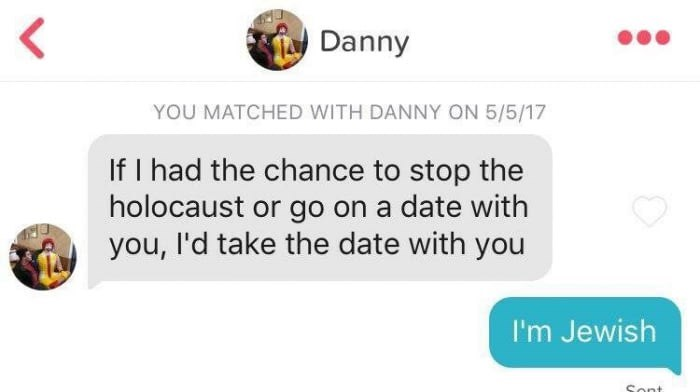 holocaust tinder cringe Awkward dating - 9033624320