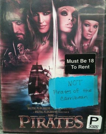Very funny fail of a movie for rent that was clearly rented to someone who thought it was Pirates Of The Caribbean.