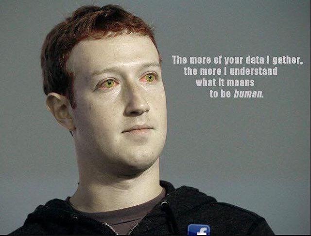 Deadpan Mark Zuckerberg meme comparing him to Data from Start Trek Next Generation.