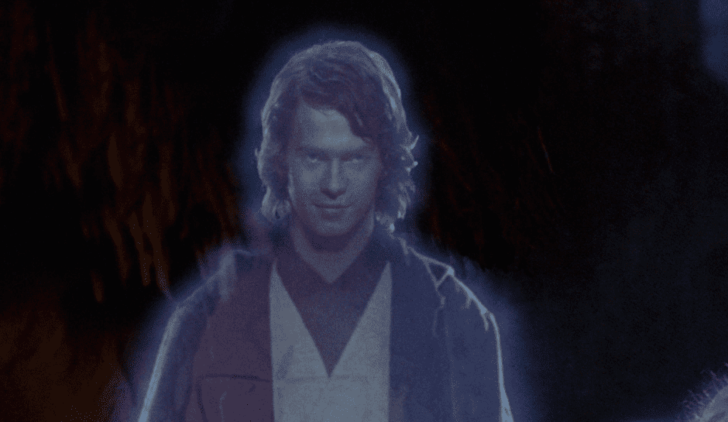 Anakin Skywalker as Jedi Ghost.