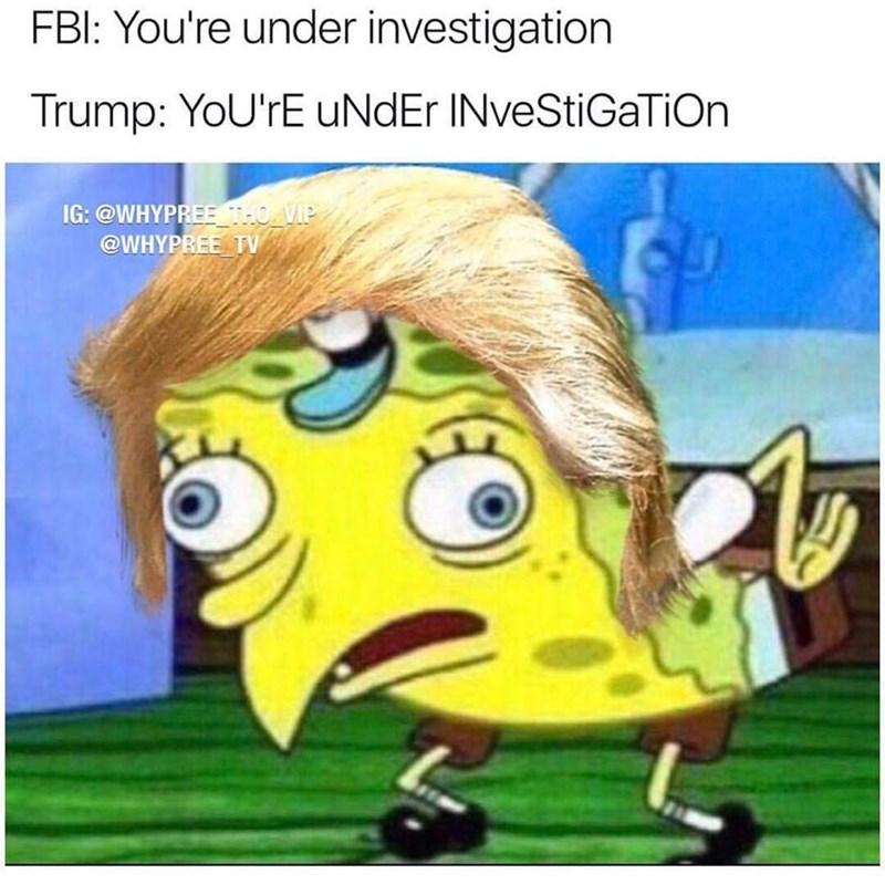 Spongebob SquarePants meme of Donald Trump/