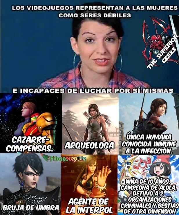 una feminista se queja que no hay heroinas en los videojuegos