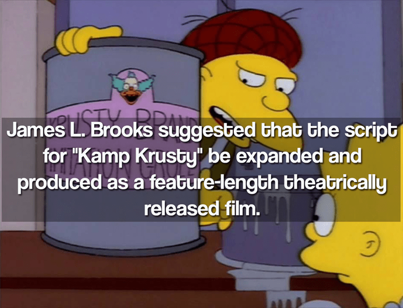"""Cartoon - James L. Brooks suggested that the script for """"Kamp Krusby be expanded and produced as a feature-length theatrically released film"""