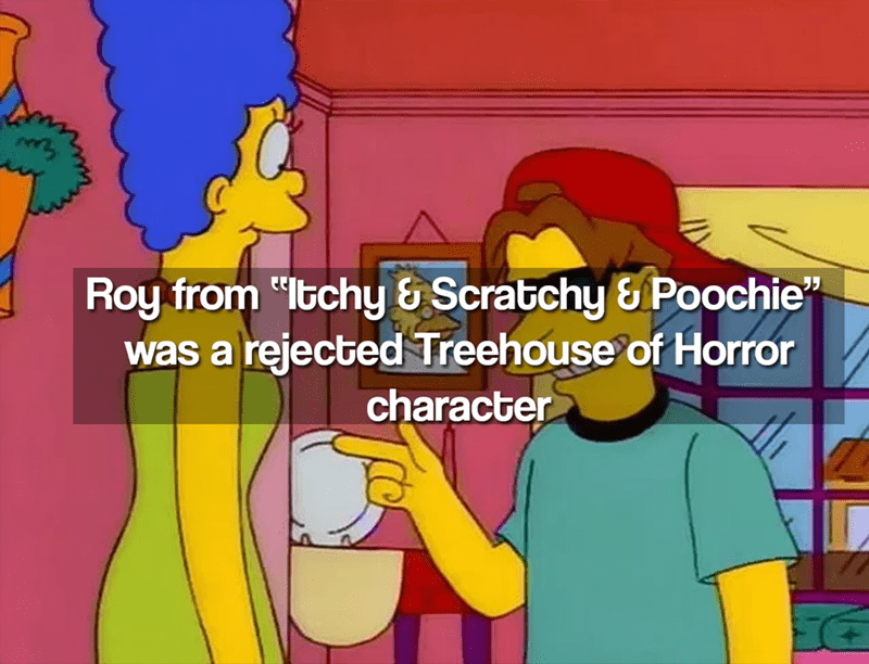 """Cartoon - Roy from """"Itchy & Scratchy& Poochie"""" was a rejected Treehouse of Horror character"""