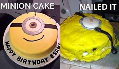 Food - MINION CAKE NAILED IT SIRTHDAY WAPPY ESAN