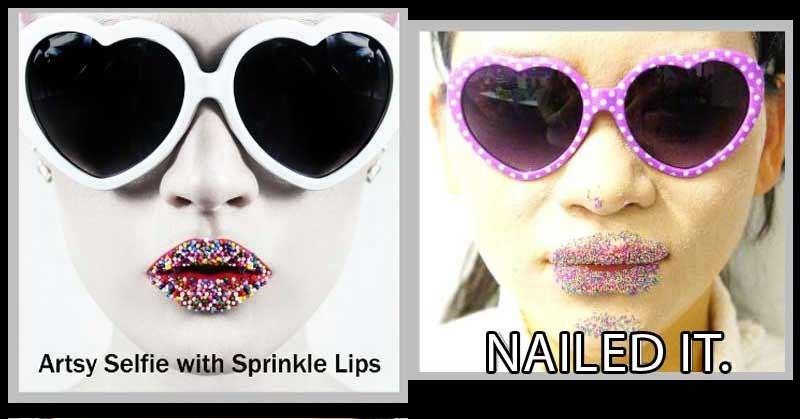 Eyewear - NAILED IT Artsy Selfie with Sprinkle Lips