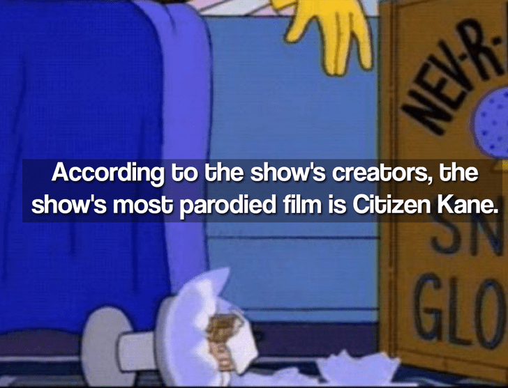 Cartoon - According to the show's creators, the show's most parodied film is Citizen Kane. GLO