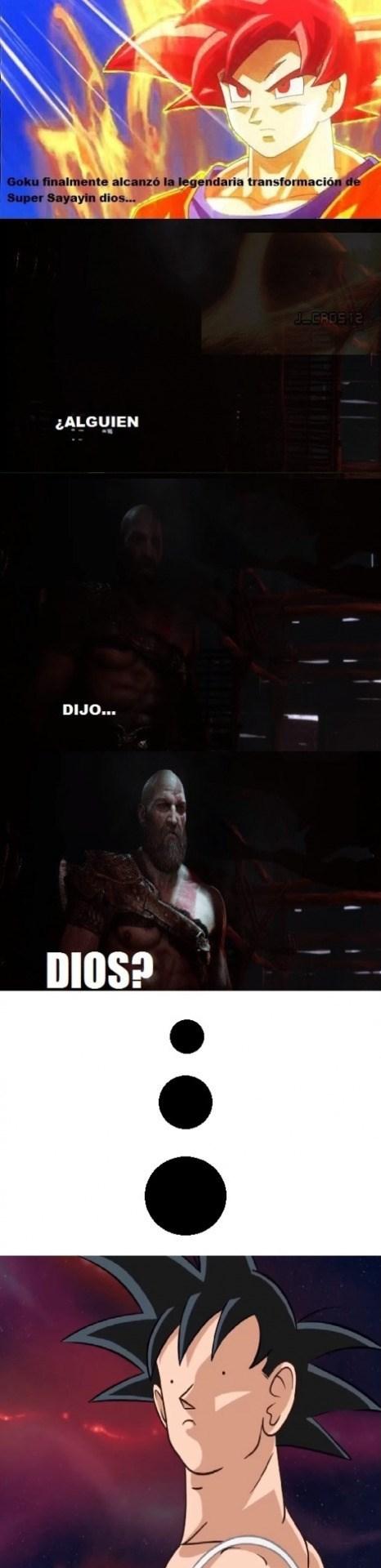 goku se proclama dios y kratos lo esta esperando