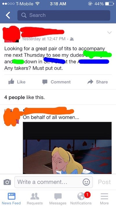 Guy has super cringe status that objectifies women, and asks for a date using cheesy pickup line.