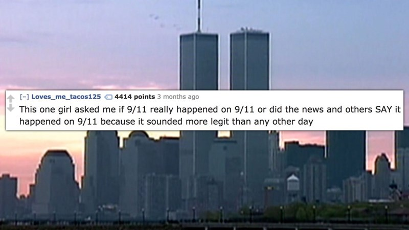 funny cringe moment about 9/11